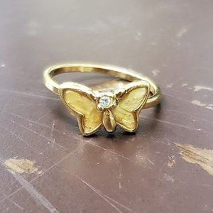 AVON Vintage Slanted gold plated butterfly ring